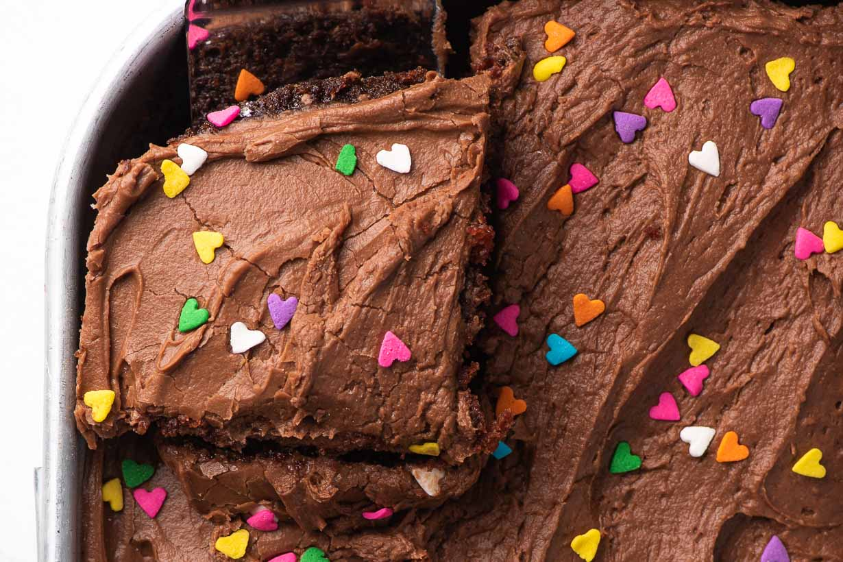 chocolate frosted crazy cake