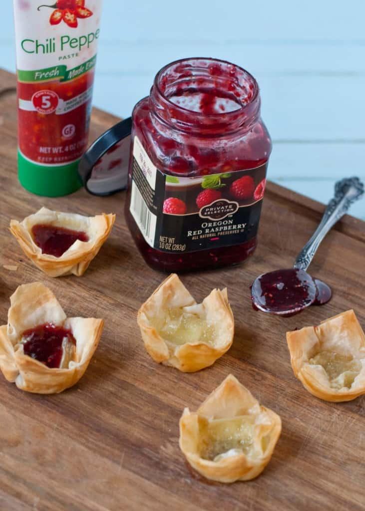 Raspberry Brie Phyllo Bites | Neighborfoodblog.com