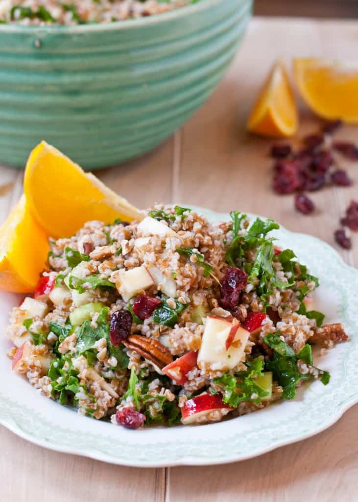 Powerhouse Bulgur Salad with Balsamic Orange Vinaigrette | Neighborfoodblog.com