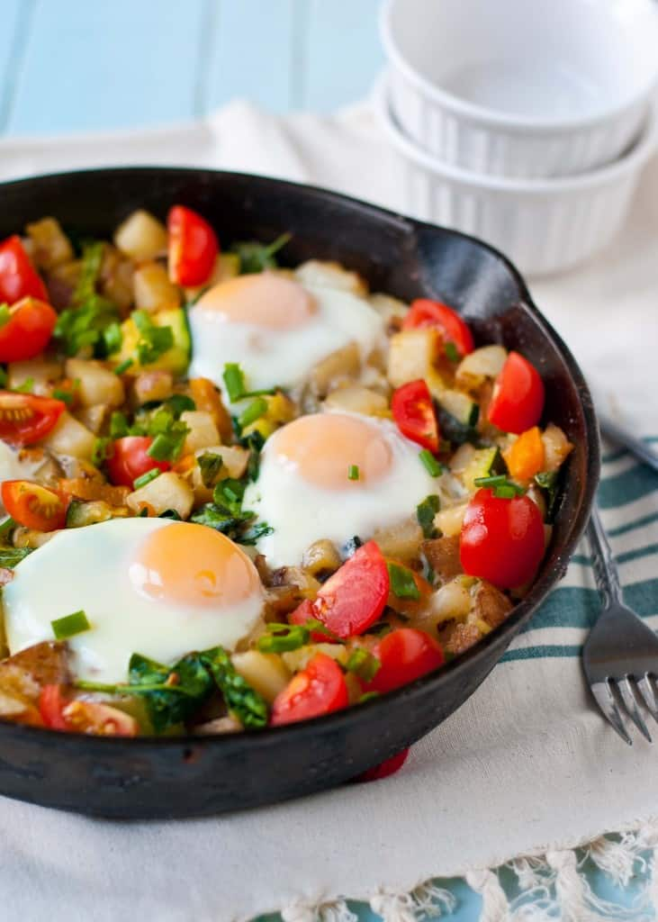 Red Potato, Bell Pepper & Spinach Breakfast Hash from Neighbor Food ...