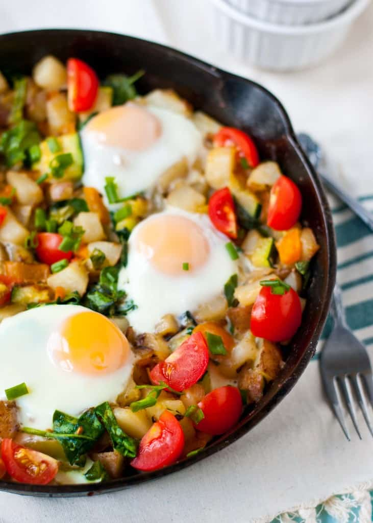 Red Potato, Bell Pepper, and Spinach Breakfast Hash | Neighborfoodblog.com