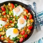 Red Potato, Bell Pepper, and Spinach Breakfast Hash #BetterWithReds #HealthyChoices