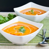 Spicy Creamy Sweet Potato Soup