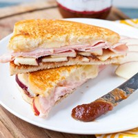 Ham and Apple Butter Grilled Cheese