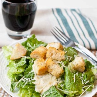 Easy Caesar Salad with Homemade Dressing