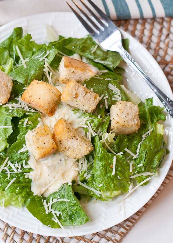 Easy Caesar Salad with Homemade Croutons | Neighborfood