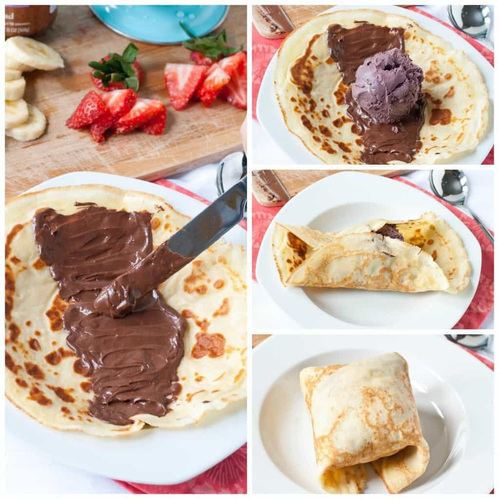 Ice Cream Stuffed Crepes with Nutella and Fresh Berries | Neighborfoodblog.com