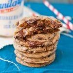 Nutella Swirled Chocolate Chip Cookies