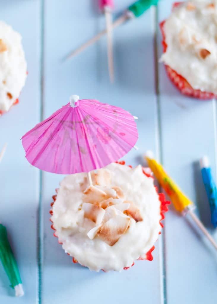 Pina Colada Cupcakes from Neighborfoodblog.com