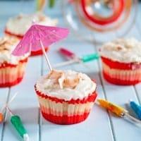 Piña Colada Cupcakes #GalentinesDayParty