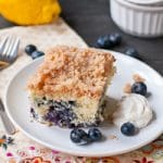 Blueberry Buckle Coffee Cake #SundaySupper