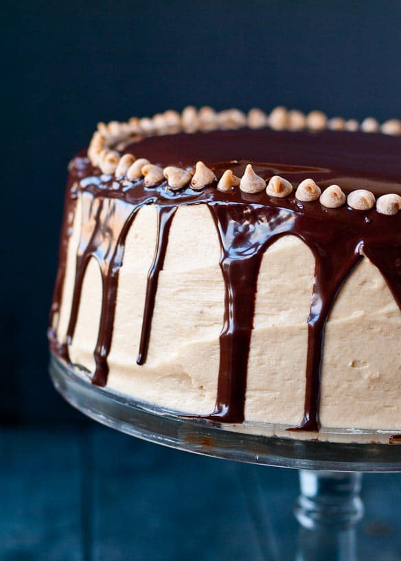 Four Layer Chocolate Peanut Butter Brownie Cake | Neighborfoodblog.com