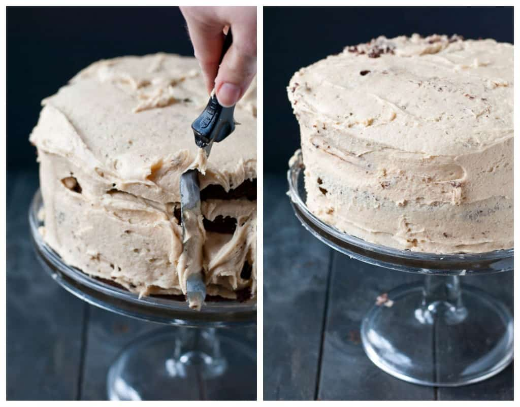 How to Make a Four Layer Chocolate Peanut Butter Cake | Neighborfoodblog.com