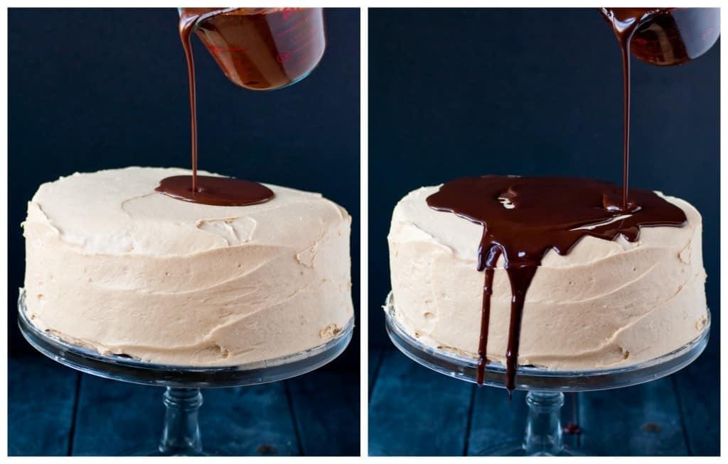 Chocolate Peanut Butter Brownie Cake with Ganache   Neighborfoodblog.com
