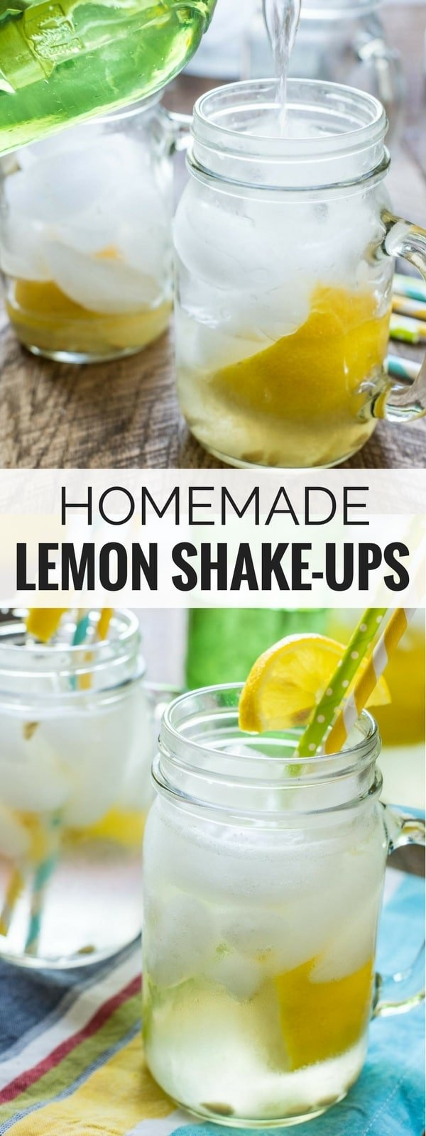 These Homemade Lemon Shake Ups are so easy to make and so refreshing! Get the taste of summer festivals in your own back yard!