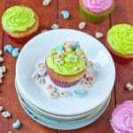 Lucky Charms Cupcakes with Neon Marshmallow Frosting