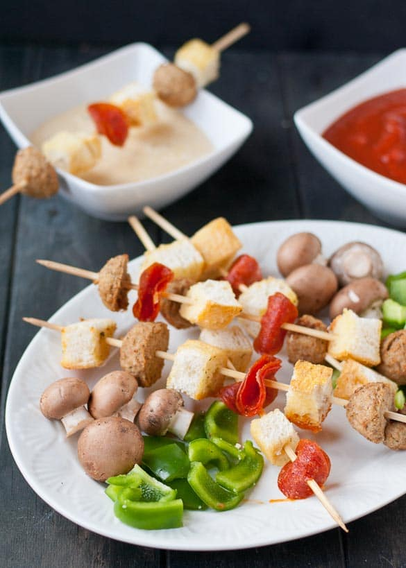 Pizza Fondue | Neighborfoodblog.com A great appetizer for parties that's ready in 20 minutes!
