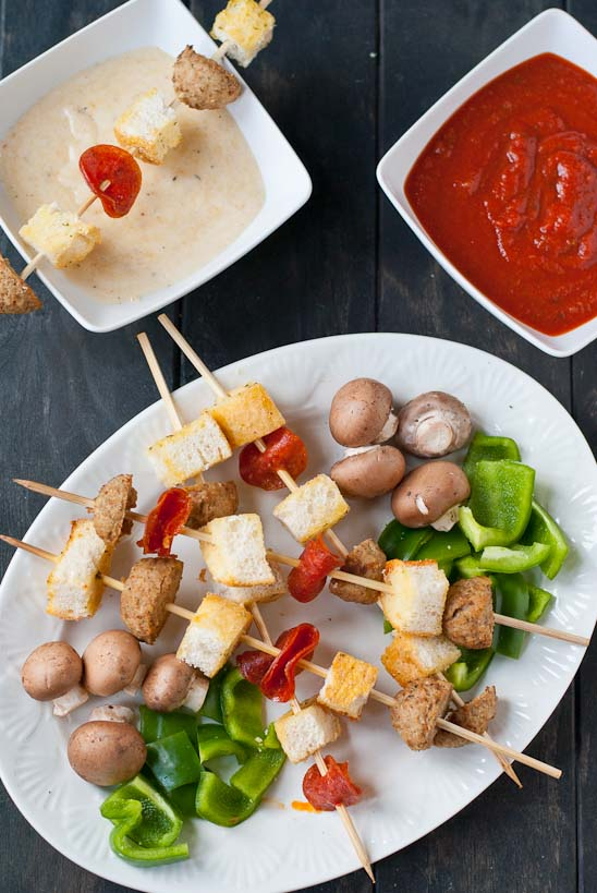 Pizza Fondue | Neighborfoodblog.com A super fun twist on a classic. Ready in 20 minutes!