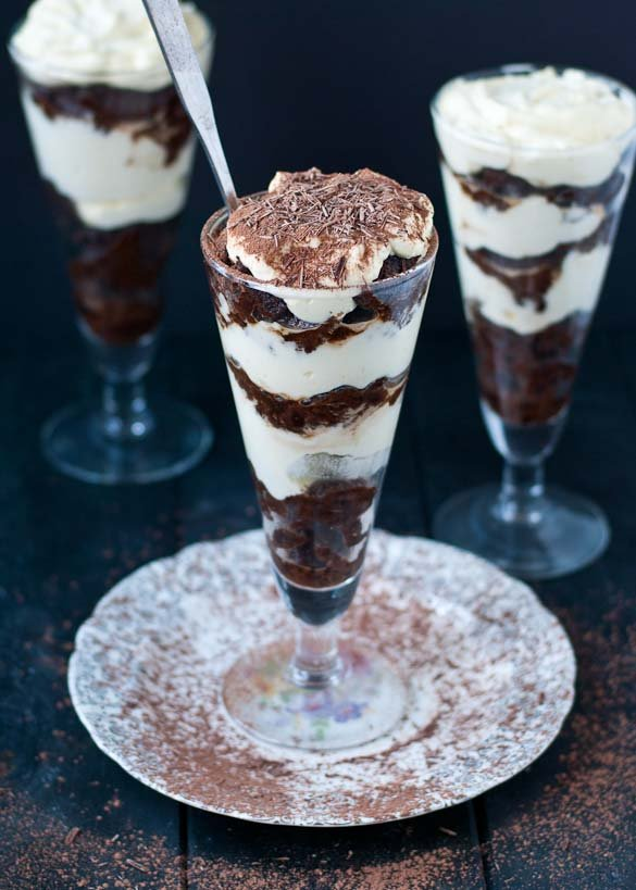 Tiramisu Brownie Parfaits | Neighborfoodblog.com