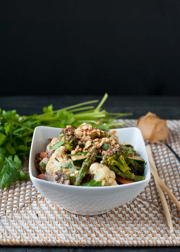 ... Vegetarian Udon Noodle Bowl with Spicy Peanut Sauce will be your new