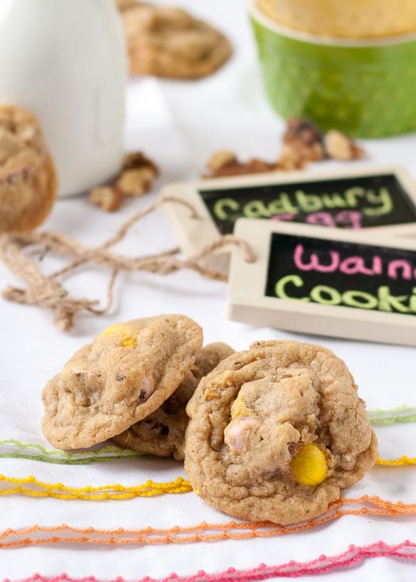 Cadbury Egg and Walnut Cookies | Neighborfoodblog.com