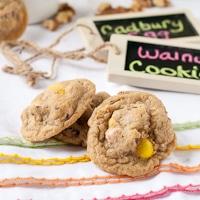 Mini Cadbury Egg and Walnut Cookies