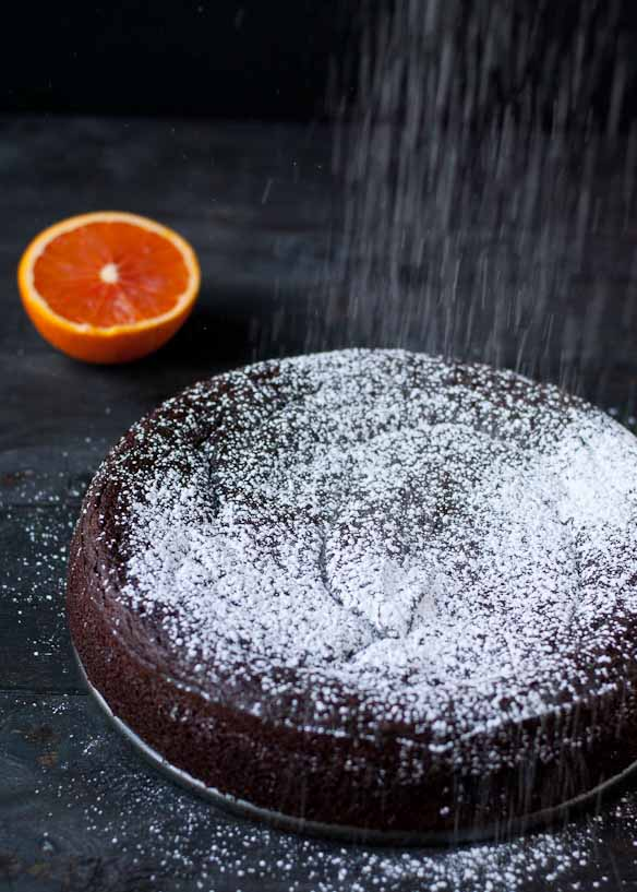 Flourless Chocolate Orange Cake #glutenfree
