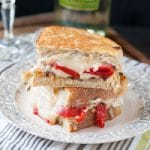 Roasted Red Pepper, Feta, and Olive Grilled Cheese #SundaySupper