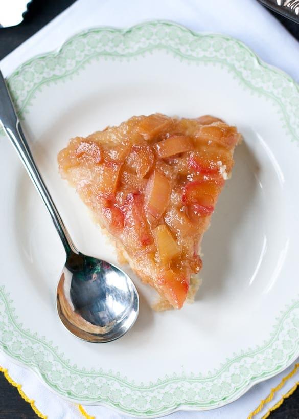 Rhubarb Upside Down Cake   Neighborfoodblog.com