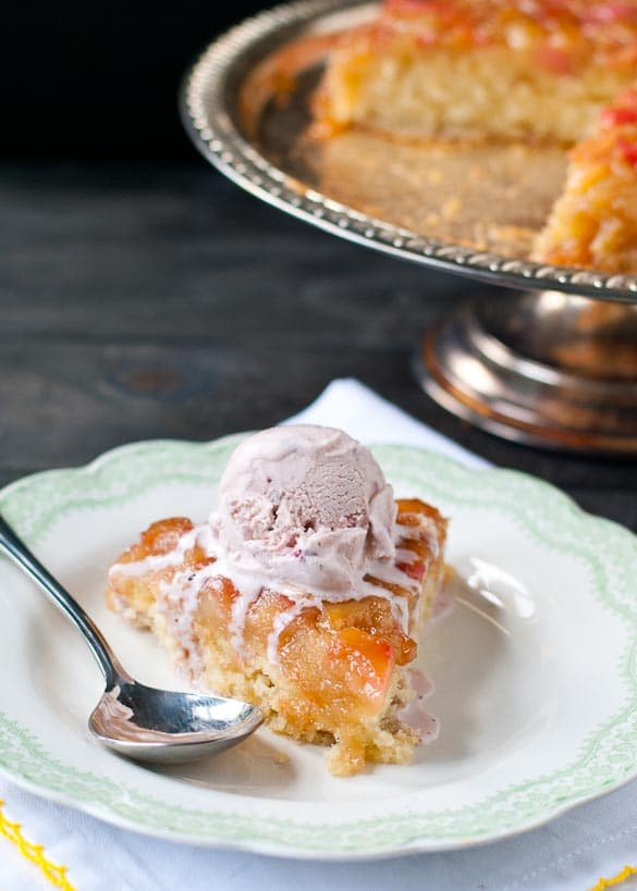 Rhubarb Upside Down Cake | Neighborfoodblog.com