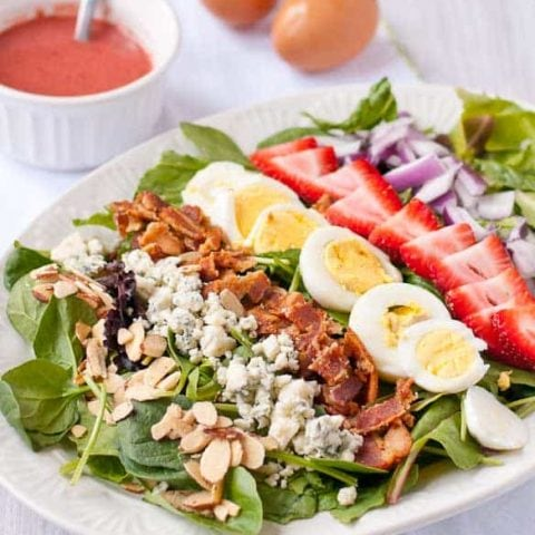 Strawberry Cobb Salad with Strawberry Bacon Vinaigrette