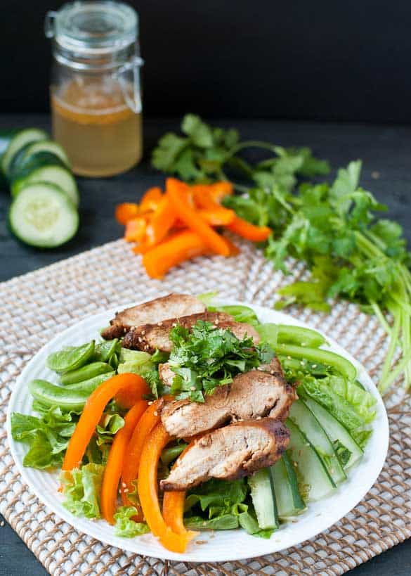 Asian Sesame Chicken Salad by Neighborfoodblog.com