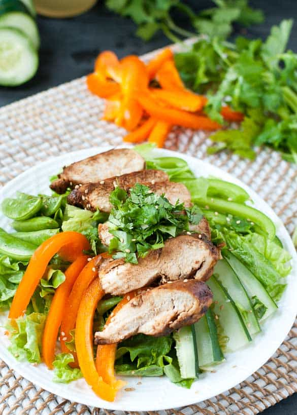 Asian Sesame Chicken Salad #glutenfree