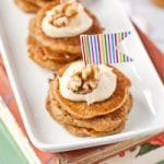 Mini Carrot Cake Pancake Stacks with Cream Cheese Frosting