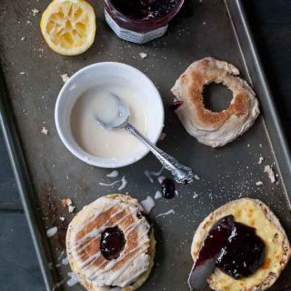5 Minute English Muffin Berry Cream Cheese Danish