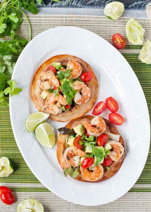 Margarita Shrimp Tostadas | Neighborfoodblog.com