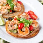 Margarita Shrimp Tostadas