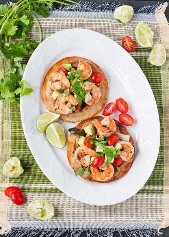 Margarita Shrimp Tostadas by Neighborfoodblog.com