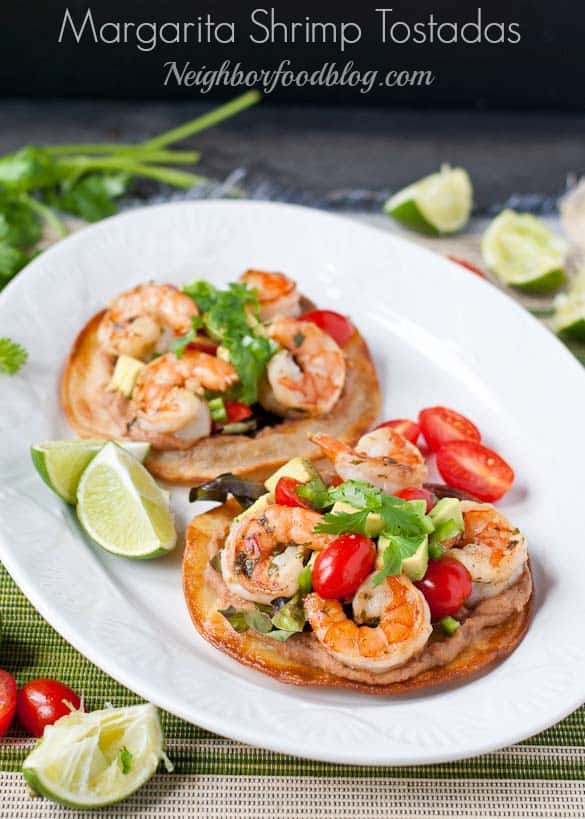 Margarita Shrimp Tostadas via Neighborfoodblog.com