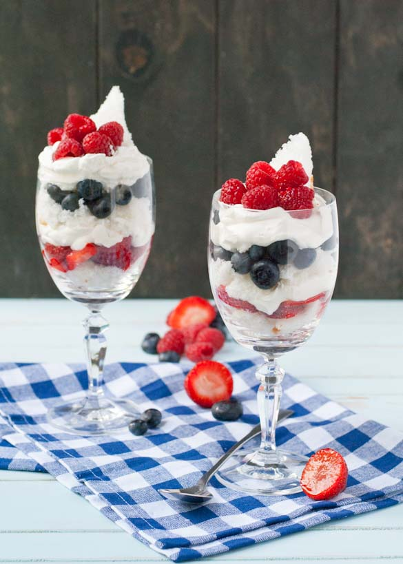 ... is eat berries and Cool Whip and angel food cake all summer long