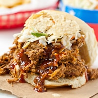 Easy Slow Cooker Sweet and Spicy Pulled Pork thumbnail