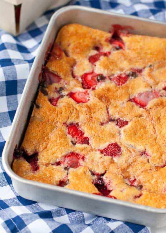 Have you ever had strawberry cobbler? It gives strawberry shortcake a run for its money!