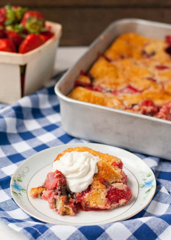 Strawberry Chocolate Chip Cobbler--definitely my new favorite way to enjoy strawberries!
