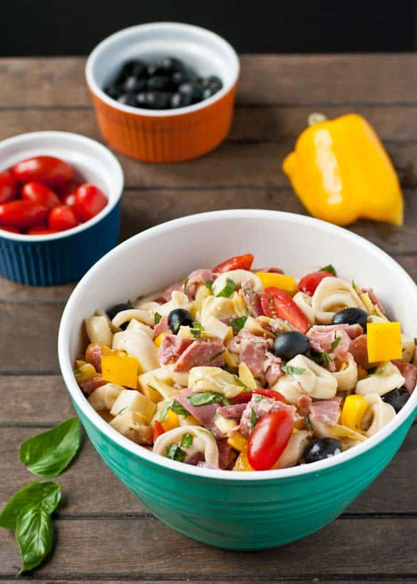 Take this Antipasto Tortellini Pasta Salad to your next cookout and be the star of the party!
