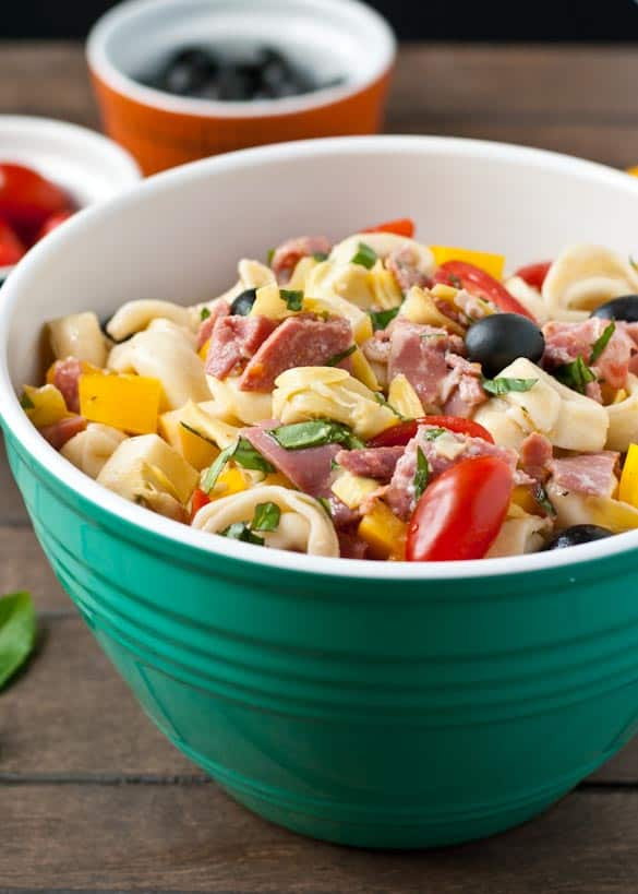 Antipasto Tortellini Pasta Salad- a great picnic side dish or main dish!