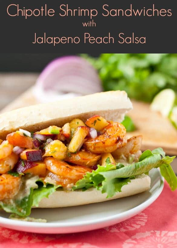 Sweet, spicy, and smoky these Chipotle Shrimp Sandwiches have it all!