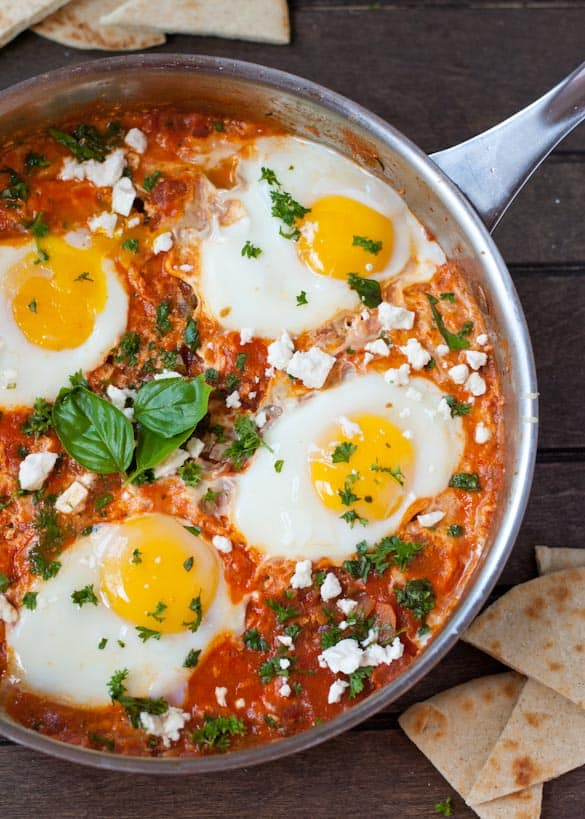 Gluten free, vegetarian, one pot Shakshuka