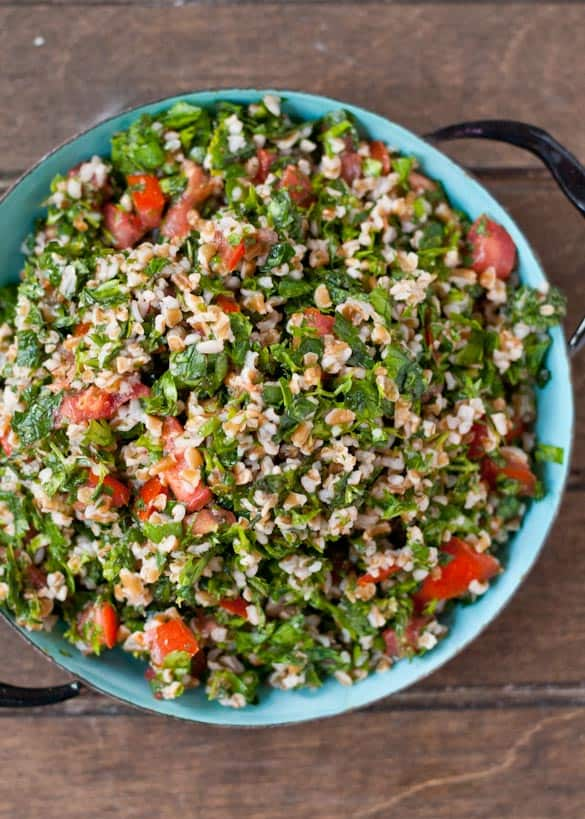 A classic Tabbouleh Salad recipe that makes a great summer side dish!