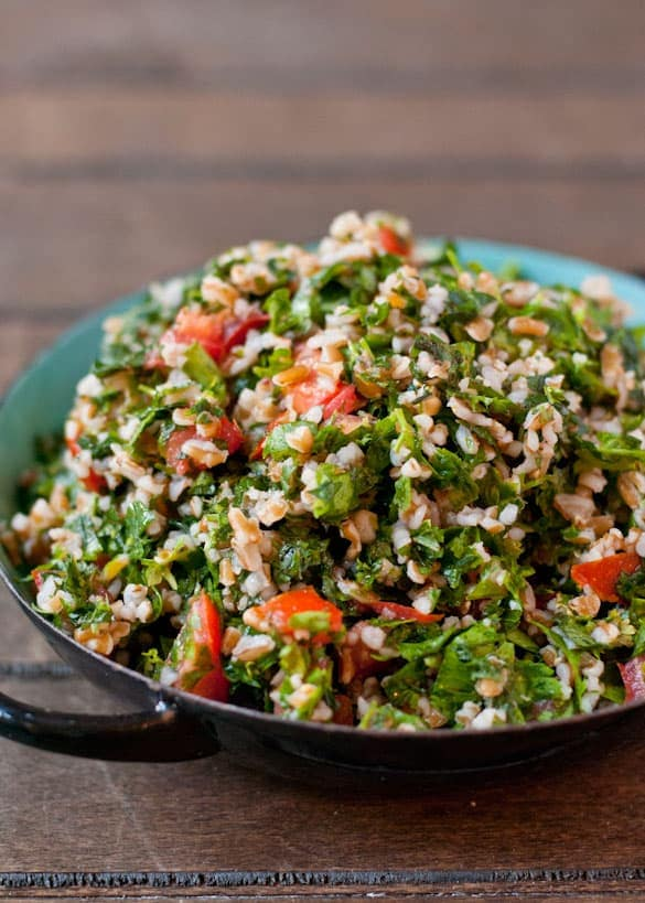 This Tabbouleh Salad goes great with hummus, pita sandwiches, or the nearest fork!