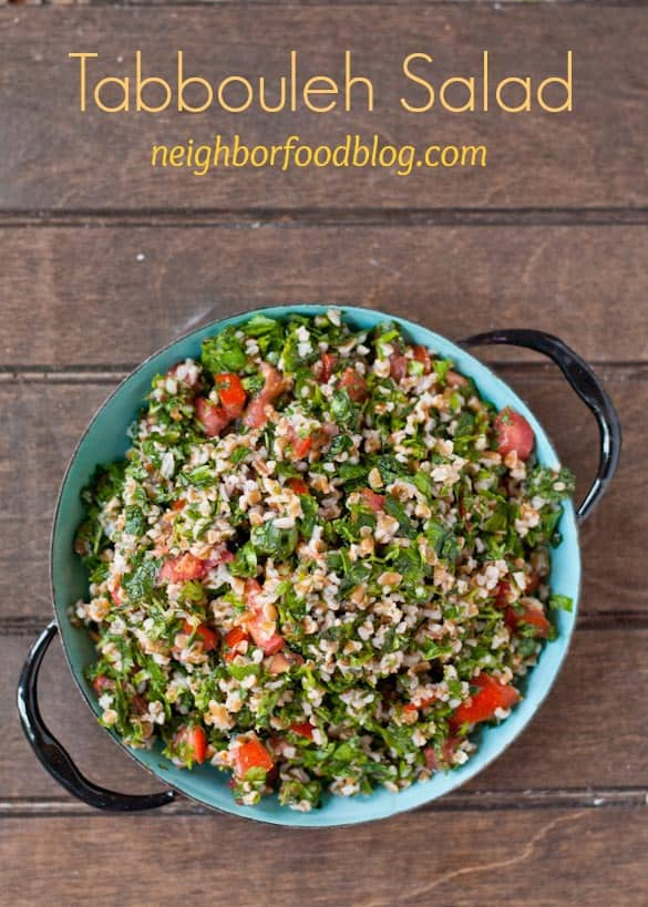 This Tabbouleh Salad is a great side dish packed with fresh summer herbs!